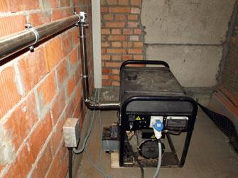 Выхлопная система для генератора