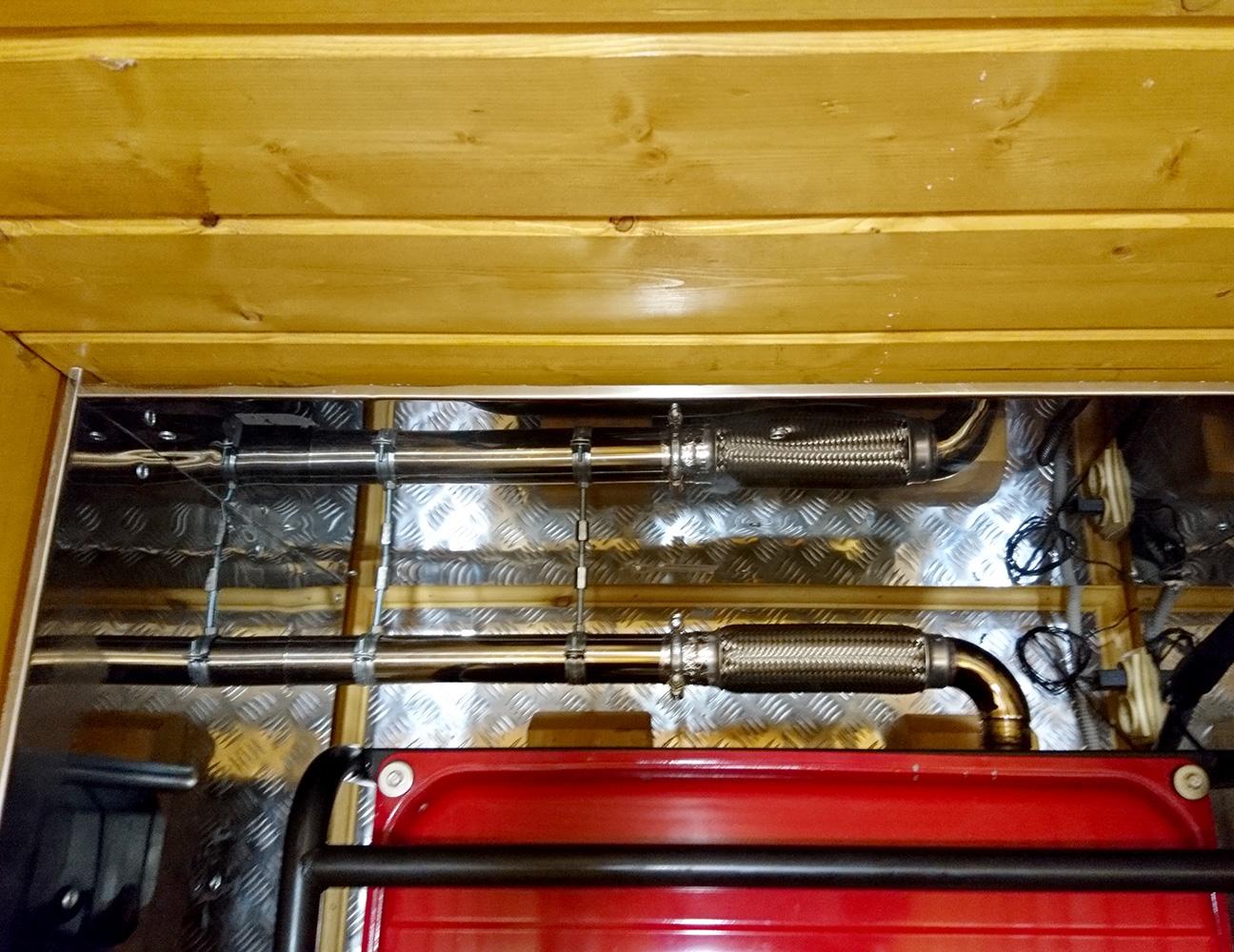 Система отвода выхлопных газов для генератора своими руками