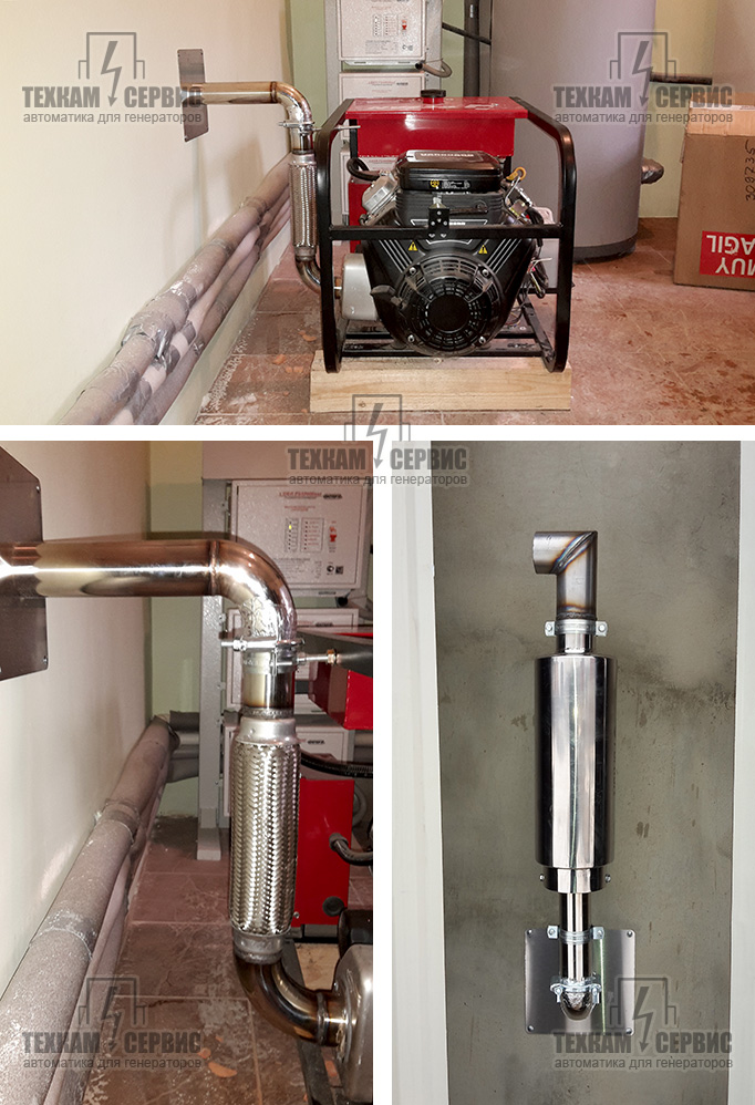 Выхлопная труба для бензогенератора своими руками 64